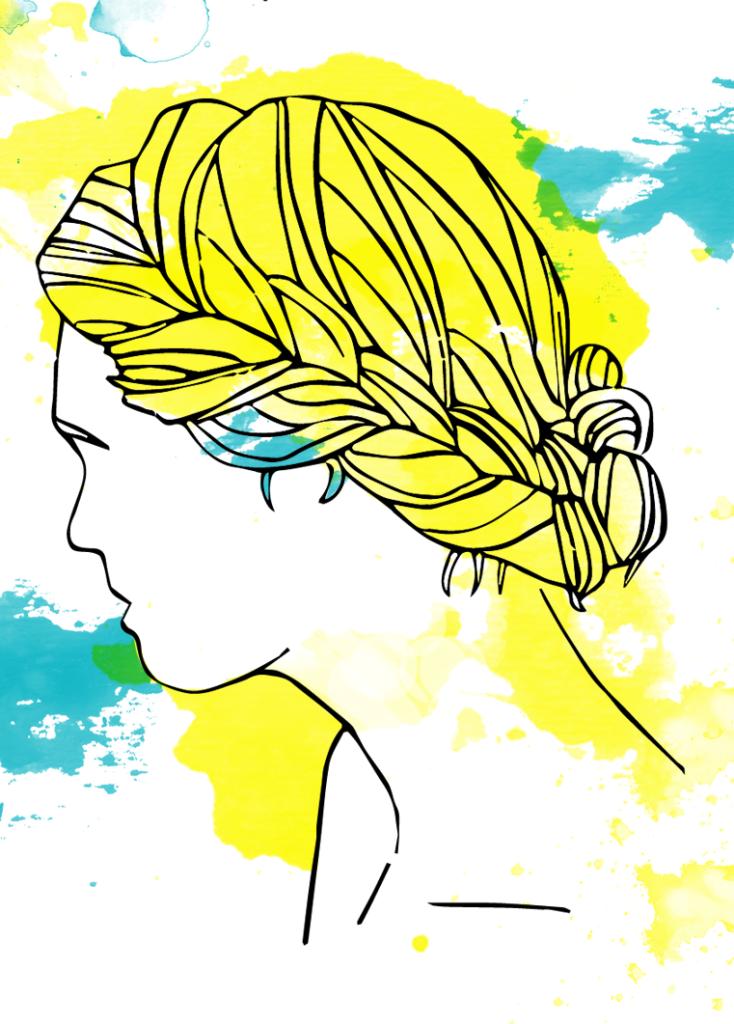 goddess braids, summer hairstyle