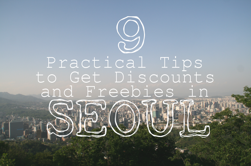 discount freebies in seoul