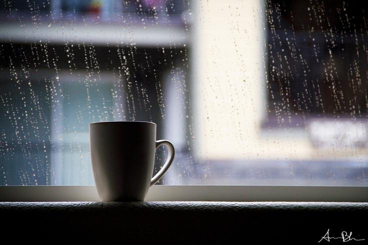 hot chocolate in the rain