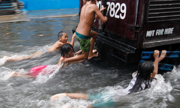 Flooding in Manila caused by heavy rains