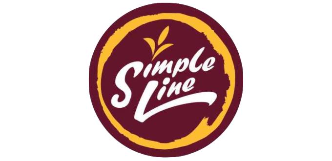 simple line milk tea logo