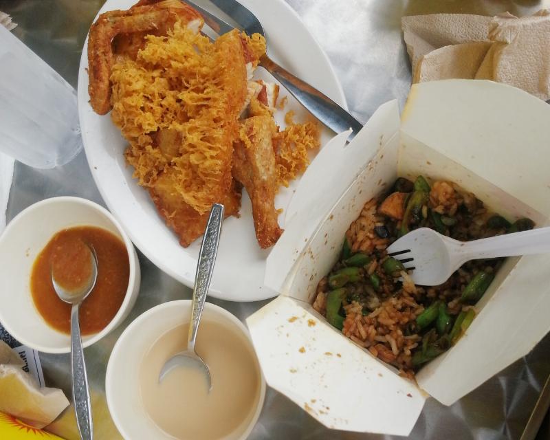 indonyaki chicken and box rice