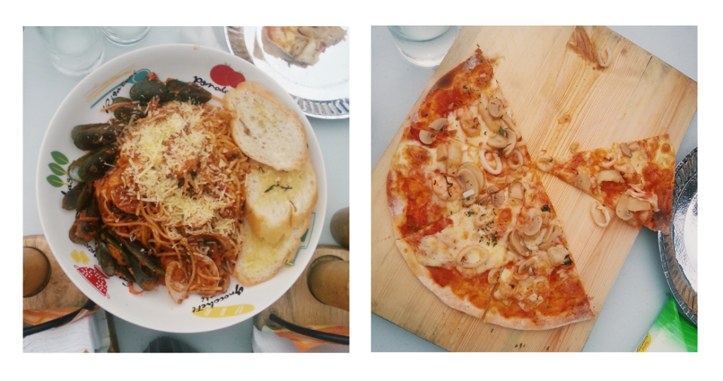 joreen's seafood pasta pizza
