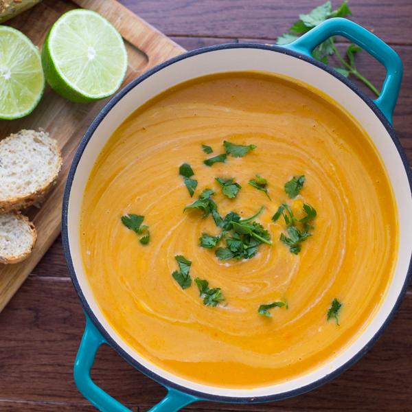Thai Curry Lentil & Sweet Potato Soup