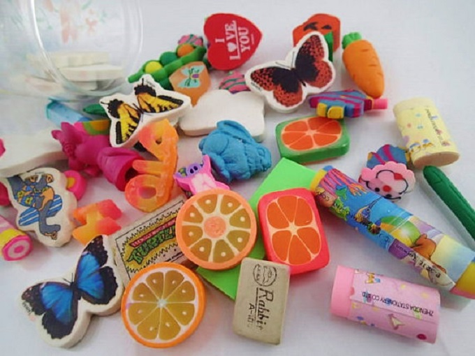 Collection of Vintage Erasers