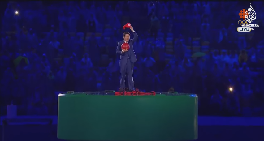 shinzo abe at the olympics