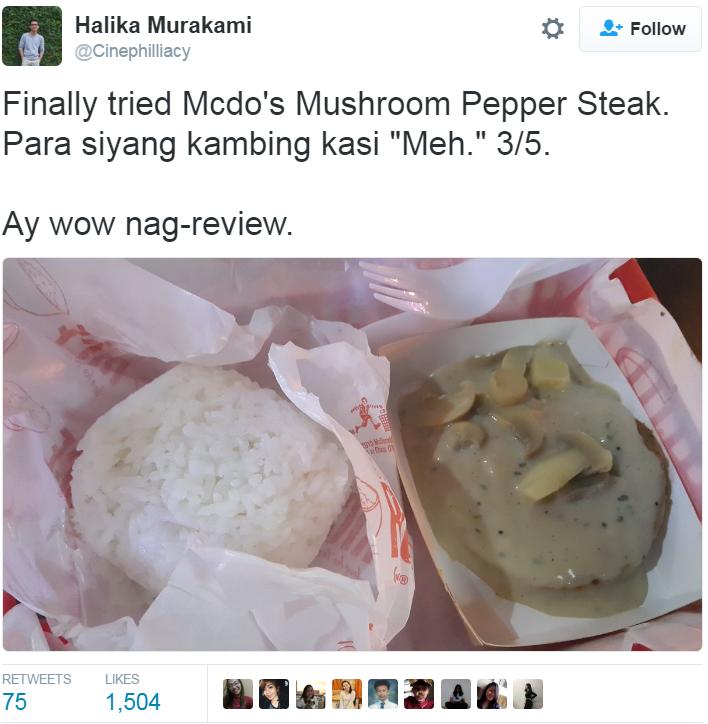 Mushroom Pepper Steak Pun